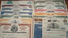 Lot of 14 Different Stock Certificates Con ED Westvaco Spartans Kings