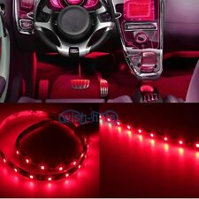 2Pcs Red 12SMD INTERIOR LED STRIP FOOTWELL LIGHT UNDERDASH BULB EXTERIOR a