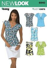 NEW LOOK SEWING PATTERN MISSES' KNIT TOP TOPS SIZE 4 - 16  6940