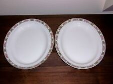 """CLIFTON Pattern - Alfred Meakin China - 2 Oval Serving Platters - 12"""""""