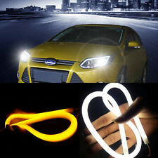 2pcs 60CM LED Car Auto Flexible DRL Daytime Running Strip Light Soft Tube Lamp