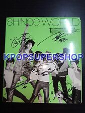 Shinee Vol. 1 The Shinee World Version A Autographed Signed CD Cover Rare