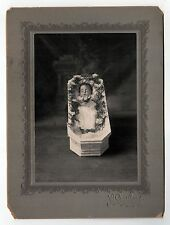 BABY IN CASKET Post Mortem CABINET PHOTO Death MORBID Macabre NEW BEDFORD Dead