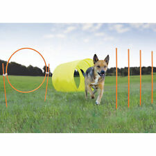 Kyjen Outdoor Dog Agility Starter Kit with Dog Tunnel Weave ( 9-piece Set )