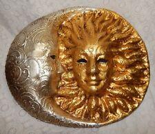 CA' DEL SOL VENICE MASK CELESTIAL SUN MOON MARDI GRAS MASQUERADE LUNA AUTHENTIC