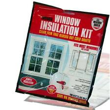 DRAFT EXCLUDER INSULATION KIT DOUBLE GLAZING FILM NEW WINDOW SHIELD HOME HEATING