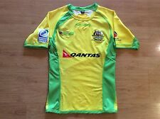 AUSTRALIA WOMENS 2012/13 IRB RUGBY SEVENS PLAYER ISSUED SHIRT JERSEY XS