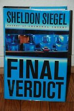 "SIGNED ""Final Veridict"" by Sheldon Siegel 1st Edition 1st Printing HC/DJ Unread"