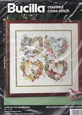 Bucilla Counted Cross Stitch Kit Wreath for All Seasons 14 by 14 Barbara Baatz