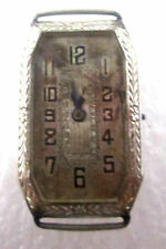 Antique Warwick Watch No Band Silver-tone SSteel Black Hands Hour Marks Wind up