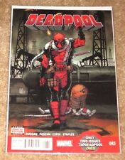 MARVEL #43 DEADPOOL HIGH GRADE FREE BAGGED AND BOARDED