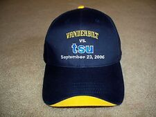 NOS~ VANDERBILT vs. TSU-2006~BALL CAP/HAT~HIT WEAR~HISTORICAL 1st GRIDIRON MATCH