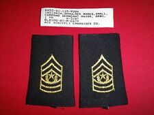 Pair Of US Army  Command SERGEANT Major E9 Small Shoulder Badges Epaulets