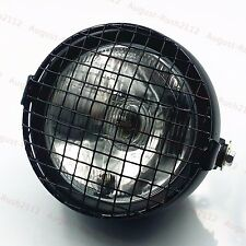 Motorcycle Grill Retro Vintage Side Mount Headlight Cafe Racer Old School Custom