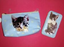 BNWT Kitten make up bag and manicure case set