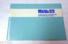 Betriebsanleitung Handbuch Conduite et Entretien Mazda 929, Stand 07/1974