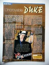 COUPURE DE PRESSE-CLIPPING : DUKE ROBILLARD  04/2002 Interview,Living With Blues