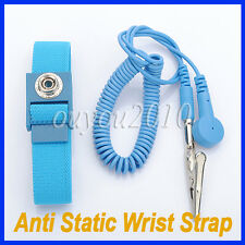 New Anti-Static Wristband Wrist Strap ESD Discharge Band Grounding Electricity