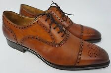 Magnanni Nava Brogue Oxford Cognac Brown Men's Leather Shoes Size 12 M