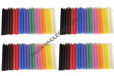 """LOT OF 80 ASST COLOR Chime MINI Candles 4"""" FREE PRIORITY MAIL SHIPPING"""
