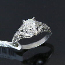 NYJEWEL 18k Solid Gold Brand New Filigree 1ct Diamonds Engagement Ring $2899