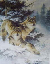Wolves by Larry Fanning 11 X 14 print