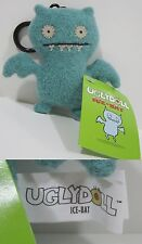 "RARE 1st GENERATION Looped Tag! Light Blue ICE-BAT UGLYDOLL 4"" Clip-On Keychain!"