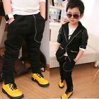 New Toddlers Boys Zipper Collapse Harem Pants Trousers Thick 3-8 Y P330