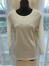 Top/T.Shirt - Brand New with Tags - Winter White - Bon Marche - Size M