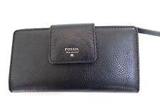 Fossil Women's Sydney Tab Clutch Wallet Black NWT SL6690001
