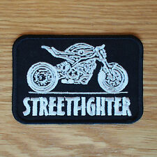 Motorcycle Biker Custom Street Fighter Cloth Patch Leathers Vest STREETFIGHTER