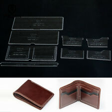 Wallet Leather template set Leathercraft Pattern Acrylic for Leather worker 870
