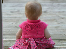 Knitting Pattern - Papillon Bolero (Cardigan) - Baby and Child sizes