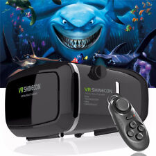 Genuine SHINECON VR BOX 3D Virtual Reality Glasses+Controller For Samsung iPhone