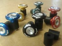 Hope GRIP DOCTOR Bar End Plugs (PAIR) ALUMINIUM (6 ANODISED COLOURS) Grips Stops