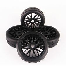 Set 4X On-Road Tires Set Tyre Wheel Rim For HPI HSP Traxxas 1:8 RC Car Buggy