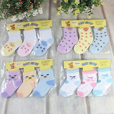 3 Pairs Newborn Baby Kids Girl boy Unisex Cotton Socks Toddler Shoes Random