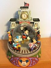 Disney Snow Globe Mickey & Friends Main Street Train Station Disneyland RARE