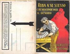 """7238) WW1 PRESTITO """"RUBA A SE STESSO CHI NASCONDE OGGI IL DENARO"""", IL DIAVOLO."""