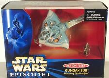 STAR WARS ACTION FLEET GUNGAN SUB w/QUI GON JINN MIB EPISODE 1 I