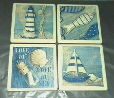 NEW Set of 4 bathroom nautical Ceramic wall tiles pictures mural home decor