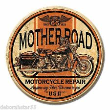 ROUTE 66 Sign Motorcycle Tin Sign MAGNET Garage Sign Biker Tool Box  MAGNET 3""