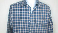 Abercrombie & Fitch Blue red plaid button down shirt Medium Men's heavy cotton