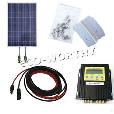 100Watt Solar Panel with MPPT Controller & Bracket for 12V Home Battery Charger