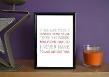 Framed - I Never Have To Live Without You - Art Print - 5x7 Inches
