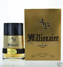 AB Spirit Millionaire by Lomani for Men Eau de Toilette 3.3 oz 100 ml Spray