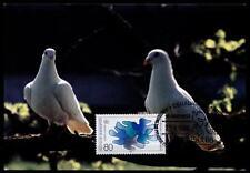 Tauben und Frieden. Maximumkarte. BRD 1986
