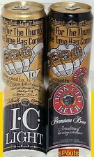 SUPERBOWL THUMB RING PITTSBURGH STEELERS SPORTS IRON CITY+I.C.LIGHT BEER CAN SET