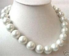 BIG 14mm AAA White sea south SHELL PEARL necklace 18 INCH