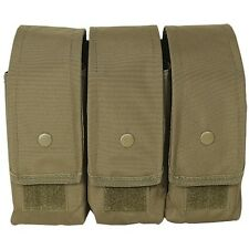 Voodoo Tactical 5.56 .223 7.62 Triple Magazine Mag Pouch Holster MOLLE Coyote